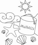 Coloring Beach Pages Printable Print sketch template