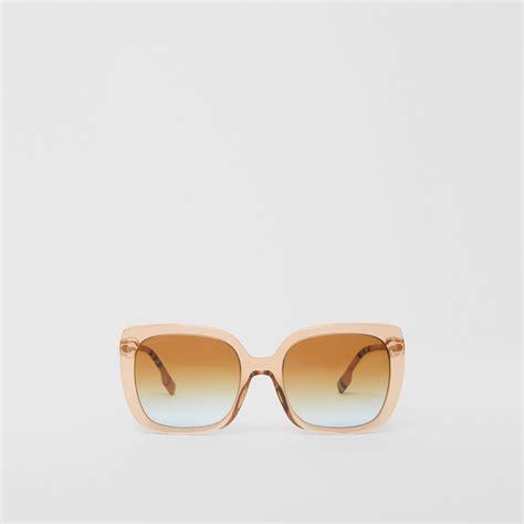 oversized square frame sunglasses  peach women burberry hong kong sar