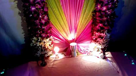 ganpati decoration  home  youtube