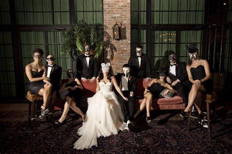 Masquerade Wedding Party Masquerade Ball Themed Wedding