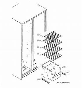 Freezer Shelves Diagram  U0026 Parts List For Model Gss22jetabb