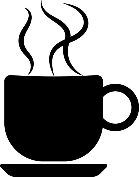coffee mug clipart coffee cup silhouette 183 free vector graphic on pixabay