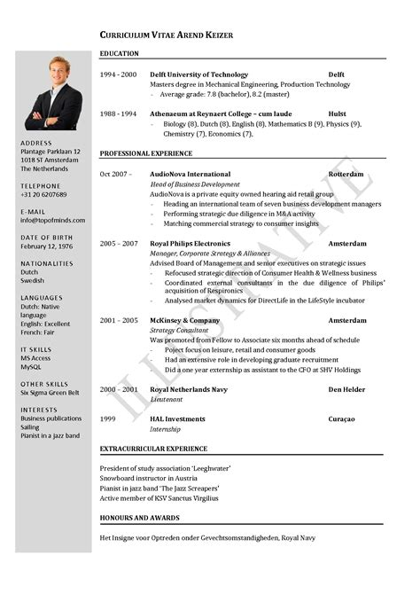 Student Cv Template by Cv Template Student Search Cv