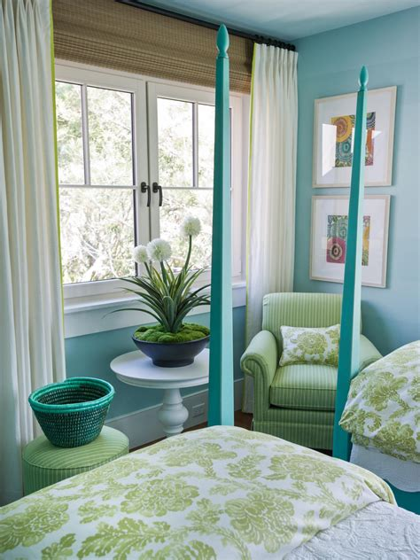bedroom pretty blue and green bedroom color schemes