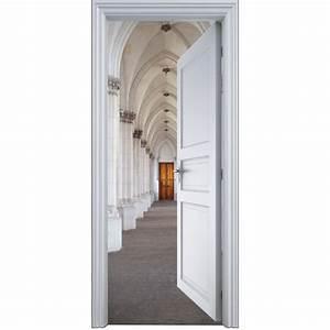 Deco Porte Interieure En Trompe L Oeil : sticker porte trompe l 39 oeil couloir 90x200cm art d co stickers ~ Carolinahurricanesstore.com Idées de Décoration