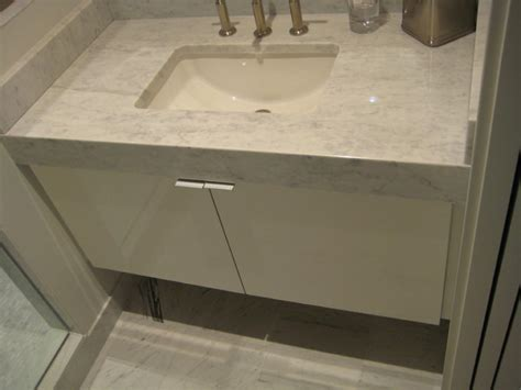 apron front bathroom sink vanity vanity with mitered apron front carrera marble