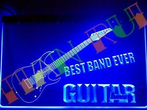 LA323 Best Band Ever Guitar Ibanez LED Neon Light Sign