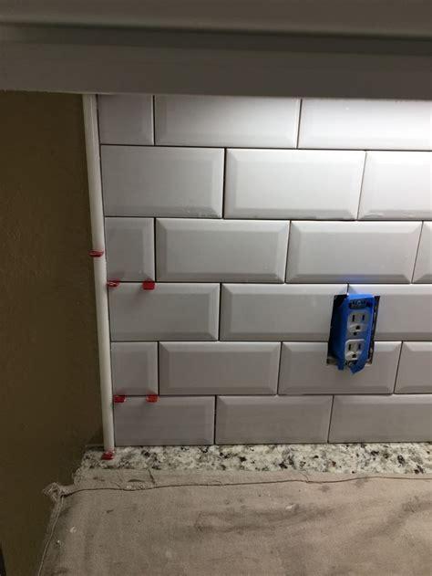 beveled subway tile backsplash fabulous grey grout