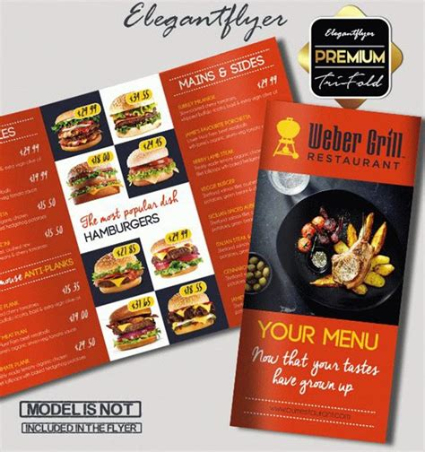 Template Brochure For Restaurant By Elegantflyer 15 Free Exclusive Menu Psd Templates For Cafes And