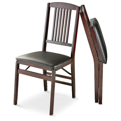 cosco folding chair replacement 2 cosco 174 wood mission folding chairs 179869 kitchen