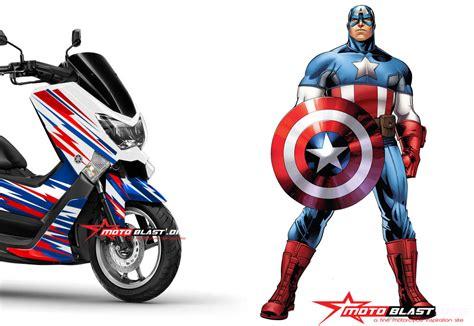 Modifikasi Stiker Yamaha Nmax by Modifikasi Yamaha Nmax Stiker Ala Captain America