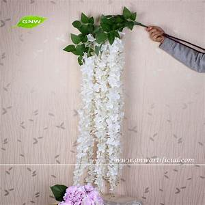 Gnw white wall hanging artificial flowers long stem flower