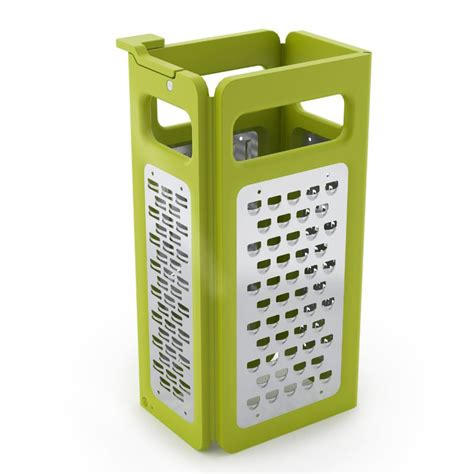 Kitchen Drawer Storage Ideas - joseph joseph 4 in 1 fold flat box grater the green head