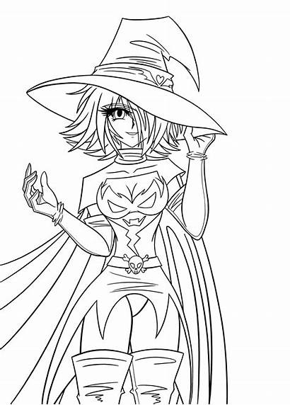 Witch Dark Lineart Deviantart Anime Coloring Darth