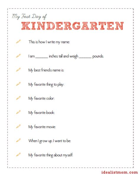 the best day of school questionnaire 20 powerful 200 | kinder sheet