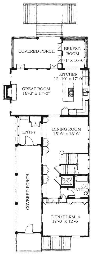charleston row style home plans