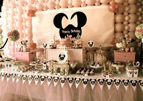 minnie mousse party decoration de buffet danniversaire
