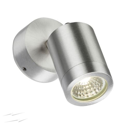 ss3led ip65 3w 3500k led adjustable wall spotlight in brushed chrome non dimmable led