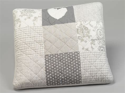 coussin de canape 60 x 60 housse de coussin patchwork 60 x 60 cm 192 pois et fleurs gris simla neuf ebay