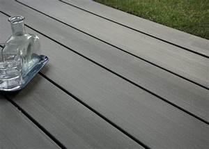 Lame Composite Pour Terrasse : lame de terrasse en bois composite teinte gris anthracite profil lisse antid rapant ou ~ Melissatoandfro.com Idées de Décoration