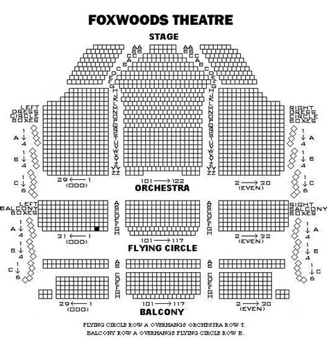 Mgm Grand Foxwoods Floor Plan by Foxwoods Theater Seating