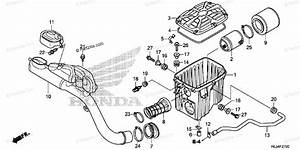 Honda Side By Side 2014 Oem Parts Diagram For Air Cleaner