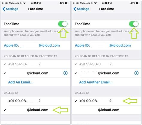 how to change caller id on iphone change facetime caller id in iphone as a number or mail id