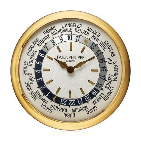patek philippe world time wall clock christies