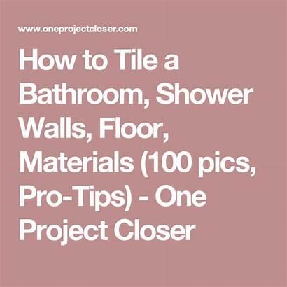 Bathroom Shower Walls Floor Tile Materials Oneprojectcloser