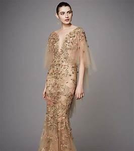 Robe De Mariée Champagne : photo robe de mari e couleur marchesa robe en tulle champagne ~ Preciouscoupons.com Idées de Décoration