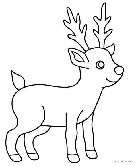 printable reindeer coloring pages  kids
