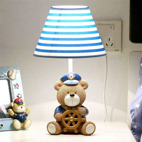 Cute Bear Captain Ba Room Table Lamp Cartoon Fabric Boy. Adult Art Desk. Diy Desk Ideas. Elliptical Desk Machine. Privacy Panels For Desks. White Crib With Drawer. Table Leg Protectors. Grass Undermount Drawer Slides. Desk With Outlets