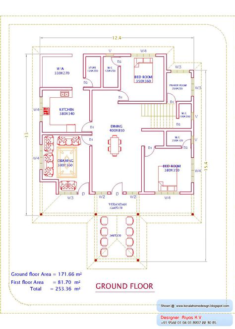 home plan com kerala home plan and elevation 2726 sq ft kerala house