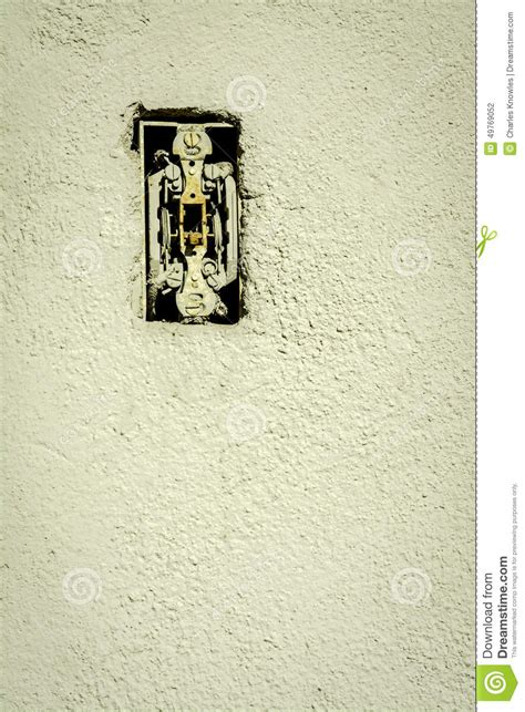 rusted light switch that is stock