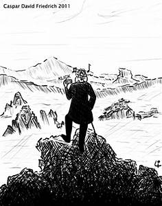 Caspar David Friedrich Romantik : caspar david friedrich 2011 by elke lichtmann media culture cartoon toonpool ~ Frokenaadalensverden.com Haus und Dekorationen