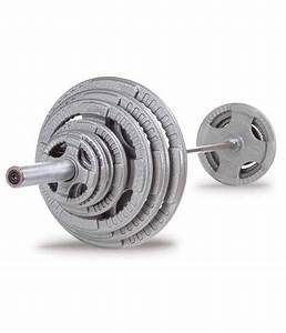Iron Olympic Steel Grip Weight Plate 500lb Set