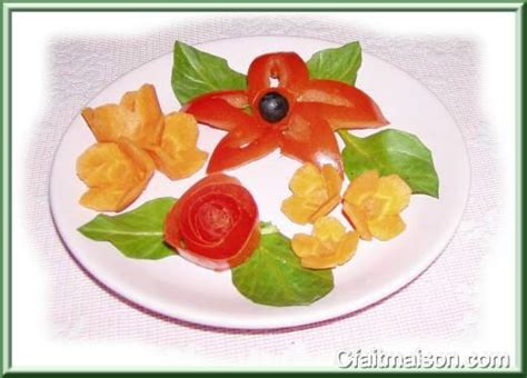 decoration de legume et fruit la sculpture des l 233 gumes et des fruits pour d 233 corer les plats