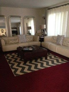 Living Room Ideas With Maroon Carpet by How To Dress Up Burgundy Carpet Home In 2019 Bedroom