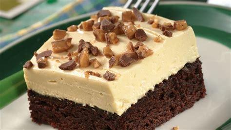 Dessert Recipes : Irish Cream-topped Brownie Dessert Recipe