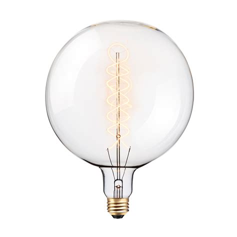 oversized vintage 100w clear glass dimmable