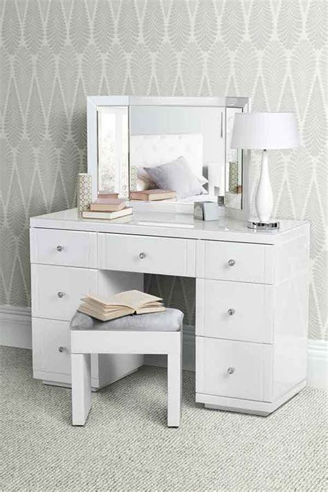 coiffeuse bureau grande coiffeuse bureau en verre blanc valeria