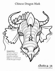 printable dragon mask coloring page woo jr kids activities With chinese dragon face template