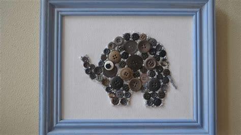 create button  bead elephant nursery wall art