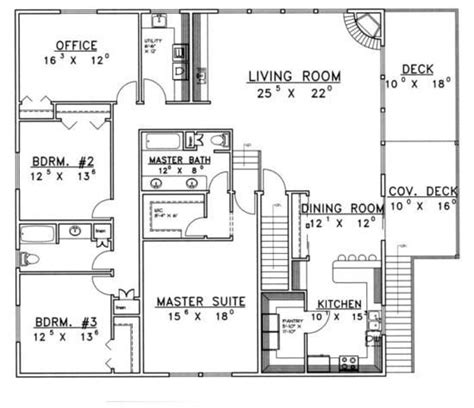 House Plans Master Bedroom Above Garage by 3 Car Garage With 3 Or 4 Bedroom Apartment Above By