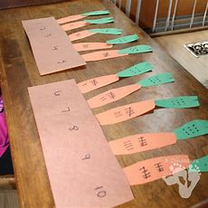 Carrot Number Matching Activity  3 Dinosaurs
