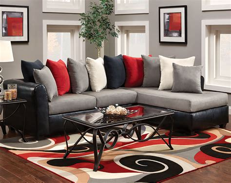 Stunning Ideas Red And Black Living Room Set Red And Black