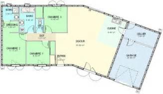 plans de maison plain pied 3 chambres plan maison ossature bois plain pied 4 chambres maison