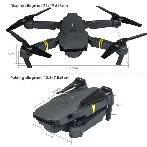 drone  pro wifi fpv  p camera  batteries foldable selfie rc quadcopter ebay