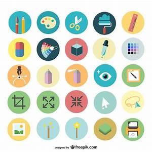 Art design icons set Vector | Free Download