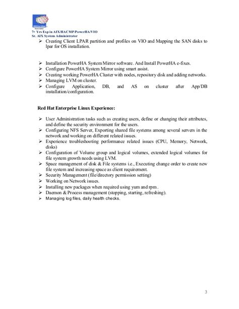 Aix Resumeaix Resume by Resume Aix